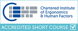 Chartered Institute of Ergonomics and Human Factors Accredited Short Course logo