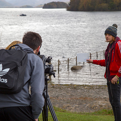 Filming on location in the Lake District