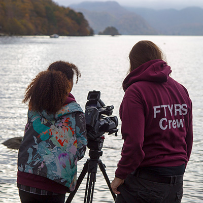 Students on location