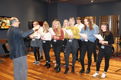 Students recorded the single at Staffordshire University's Cadman Studios
