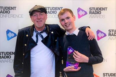 Kelvin Andrews and Chris Steers at the Student Radio Awards