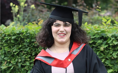 Evangeline Grace Cooper received the Vice-Chancellor's Graduating Student Award 2019