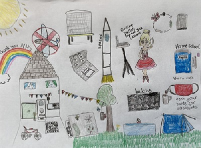 One of the children's drawings submitted for the study