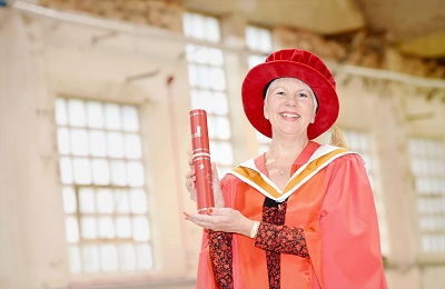 Olwyn Silvester has received an honorary degree from Staffordshire University