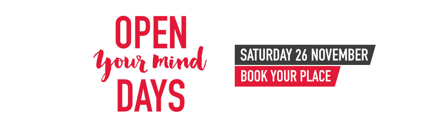 Open Your Mind Day: Saturday 26 November