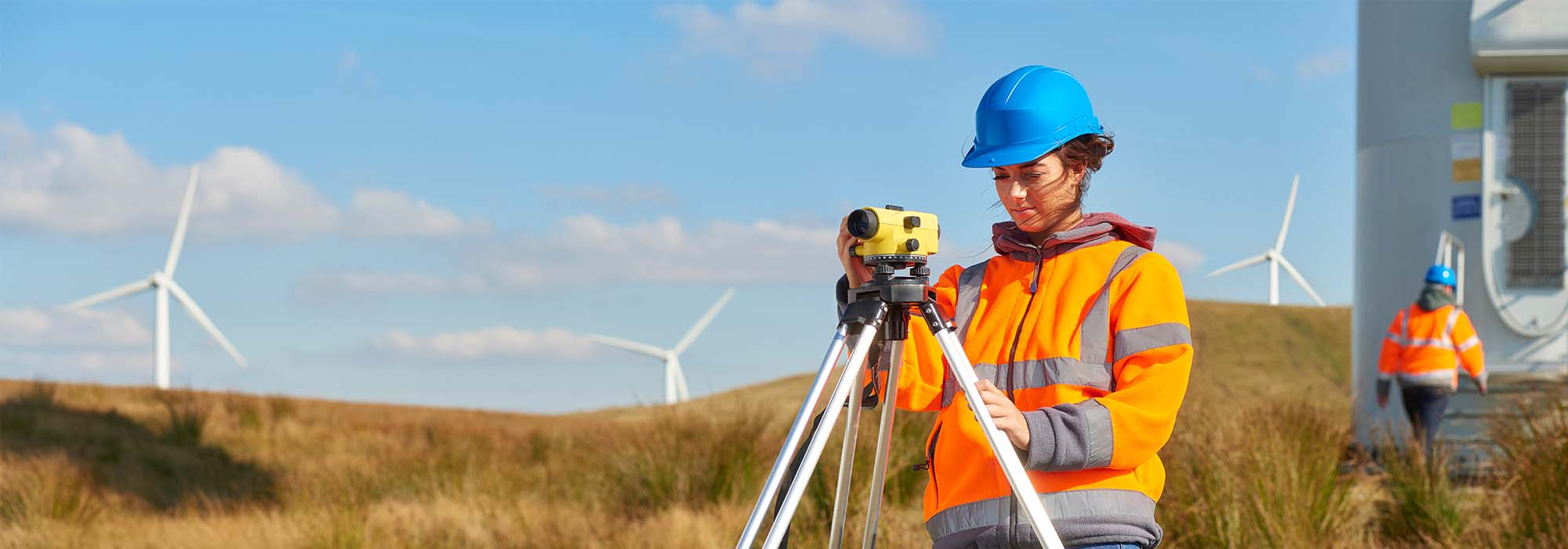 environmental engineer in a wind farm