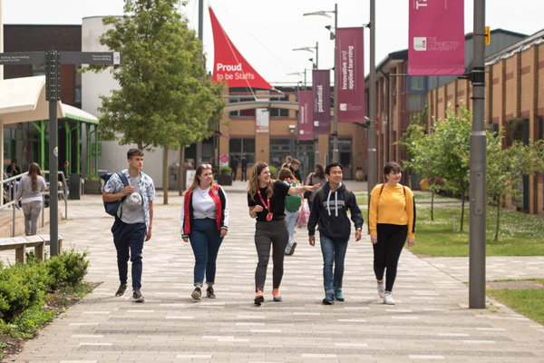Campus tour at Staffordshire University's Stoke-on-Trent campus