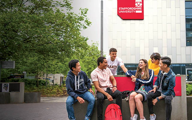 Students at the Stoke-on-Trent campus